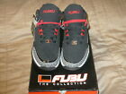 Fubu Mens Strap 2 Mid-Top Sneaker Black Red Gray Size 8.5 Shoe Basketball NWT