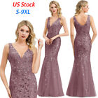 Kyпить US Ever-Pretty V-Neck Long Evening Prom Dresses Cocktail Wedding Party Gown 7886 на еВаy.соm