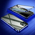 For iPhone 11 Pro Max XS XR Full Protect Magnetic Metal Double Glass Case Cover