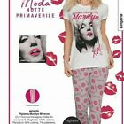 FAB LADIES MARILYN MONROE  AVON PINK AND GREY COTTON PYJAMAS SIZE 6-20