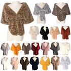 New Women's Soft Faux Fur Winter Evening Wedding Stole Neck Shawl