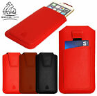 Pull Tab Up Gorilla Hand Crafted Genuine Full Grain Leather Pouch with Card Slot