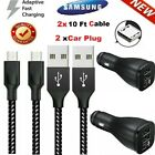 For Samsung Galaxy J7 S6 S7 Edge OEM Fast Wall Charger 3/6/10 FT Micro Usb Cable