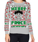 Star Wars Leia Merry Force Be with You Ugly Christmas Slim Sweater NEW, Small $18.95 CAD on eBay