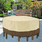 Small Round Waterproof Garden Patio Table Chair Set Furniture Cover Heavy Duty Z