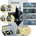 WR 5pcs Batman Gold Challenge Coin 80th Anniversary For Collection In The Box image