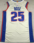 New Men's Detroit Pistons 25# Derrick Rose basketball jersey shirts gray on eBay