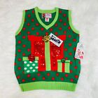 """MERRY CHRISTMAS PRESENTS UGLY CHRISTMAS MENS SWEATER VEST """"NWT"""""""