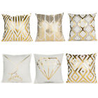 "18"" Letter Gold Foil Printing Pillow Case Throw Cushion Cover Sofa Home Decor US image"