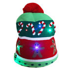 Christmas Tree Snowflake Women Men LED Knitted Pompom Ball Beanie Hat Party Cap