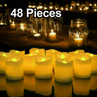 24/48/72PC Flameless Votive Candles Battery Operated Flickering LED Tea Light
