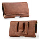 Cell Phone Pouch Carrying Case Leather Sleeve Wallet Card Slot Belt Clip Holster