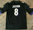 Lamar Jackson #8 Men's Jersey Baltimore Ravens BRAND NEW Purple/Black