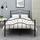 Kyпить Queen Full Twin Size Bed Metal Bed Frame Platform Headboard Black/White на еВаy.соm