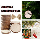 Xmas Wood Chips Diy Hand-Painted Wood Chips Polished Crafts Wood Chips-CA Stock