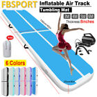 FBSPORT 3/4/5/6M Airtrack Inflatable Air Track FloorGymnastics Tumbling Mat+Pump image