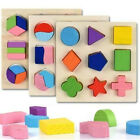 Wooden Toddler Block Puzzle Kids Toy Geometric Shape Early Learning Education US