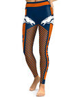 Denver Broncos Leggings Small-XXL (0-14) Football Fan Gift Game Broncs Stripes $22.99 USD on eBay