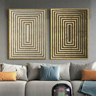 Modern Abstract Black Gold Geometric Shape Posters Home Decor Canvas Painting
