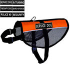 Mesh Reflective Service Dog Vest Harness Cool Comfort Choose 2 free Patches