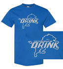 Detroit Lions This Team Makes Me Drink T-Shirts | Shirt Beer My NFL Jersey Funny $17.95 USD on eBay