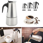 Stainless Steel Espresso Stove Top Coffee Maker Percolator Moka Pot 2/4/6 Cups