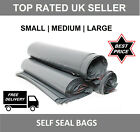 Strong grey plastic mailing bags poly postage post postal self seal -Mailing BG