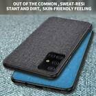 For Samsung Galaxy A51 A71 Luxury Fabric Canvas Leather Soft Bumper Case Cover
