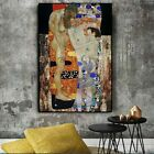 The Three Ages of Woman by Gustav Klimt Oil Painting on Canvas Print Art Wall