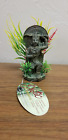 Blue Ribbon Buddha Warrior With Plant or Pixie Castle Ornament