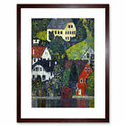 Klimt Houses At Unterach On Attersee Old Master Framed Wall Art Print