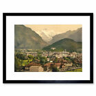 Photo Interlaken Jungfrau Swiss Alps Switzerland Framed Wall Art Print