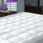 Cooling Mattress Pad Fitted Quilted Topper Snow Down Alternative Cotton Top New image