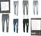 Men Slim Fit Jeans Super Stretch Denim Pants Slim Skinny Casual Designer Jeans