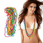 Set of 12 Colorful Neon Pearl Necklaces, Hippie Necklace, 80s Costume Party