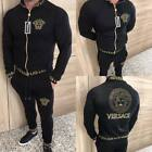 Men Versace Tracksuit Activewear Jacket and Pants Lengthy Sleeve Size S M L XL XXL