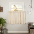 Simple Life Flax Natural Country Farmhouse Cotton Lined Cafe Tiers 2 Sizes