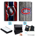 Montreal Canadiens Leather Women Wallet Purse Card ID Coin Holder $14.99 USD on eBay