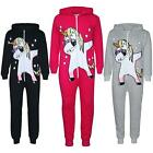 'Kids Girls 100% Cotton Dabbing Unicorn A2z Onesie One Piece All In One Jumpsuits