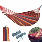 Outdoor Hammock Swing Garden Camping Hanging Travel Rope Portable Wood 250*150cm
