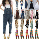 Women Denim Jeans Jumpsuit Sleeveless Playsuit Overalls Trousers Rompers USA