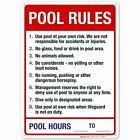 Pool Rules Sign, Pool Sign $12.99 USD on eBay