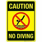 Caution No Diving Sign. Pool Sign $10.99 USD on eBay