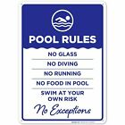 Pool Rules - No Exceptions Sign. Pool Sign $12.99 USD on eBay