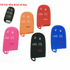 Car 5-Buttons Silicone Key Fob Shell Cover Case For Jeep Chrysler Dodge Charger $6.6 USD on eBay