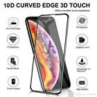 For iPhone Models 11D Full Glue Curved Tempered 9h Glass Screen Protector Balck