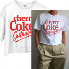 Junk Food Cherry Coke Outrageous! Coca cola Cropped T-shirt Runs Large Easy Fit $25.0  on eBay