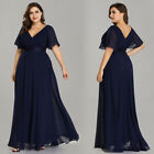 Ever-Pretty US Navy Evening Gown Long V-neck Chiffon Mother Of Bride Dress 09890