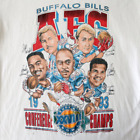 Vintage 90's Buffalo Bills Super Bowl XXVIII Cartoon Caricature T-Shirt TL445 image