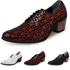 British Mens Dress Formal Leather Shoes Pointy Toe Work Business Wedding Chunky